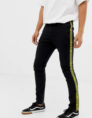 Cheap Monday Skinny Jeans With Taping In Black