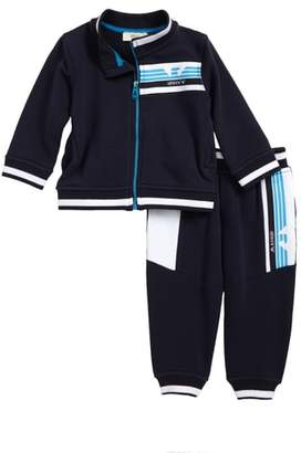 Armani Junior Logo Jacket & Track Pants Set