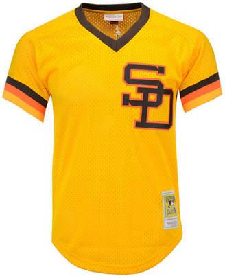 Mitchell & Ness Men's Tony Gwynn San Diego Padres Authentic Mesh Batting Practice V-Neck Jersey