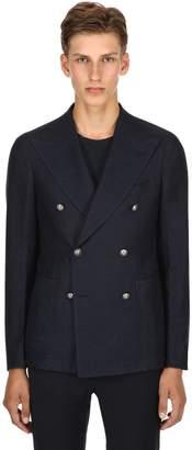 Tagliatore Double Breasted Linen & Cotton Jacket