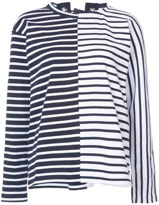 Free Shipping $250+ at Farfetch Sacai lace back breton top