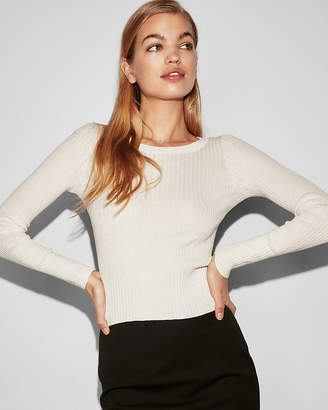 Express Ribbed Crew Neck Pullover Sweater