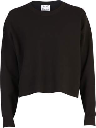 Acne Studios Black Cropped Sweater