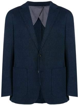 Hackett check pattern blazer