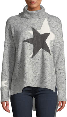 Free Generation Marbled Star Turtleneck Sweater