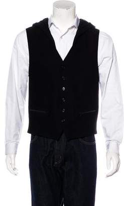 Ann Demeulemeester Hooded Wool & Linen Vest