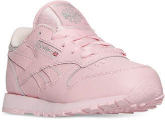 Reebok Little Girls' Classic Leather Casual Sneakers from Finish Line $49.99 thestylecure.com