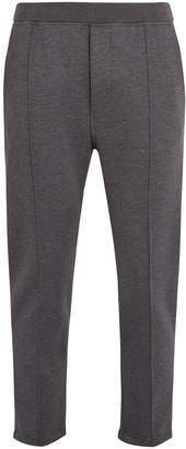 Prada Mid-rise cotton-blend jersey track pants