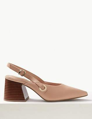 M&S Collection Pointed Toe Slingback Shoes