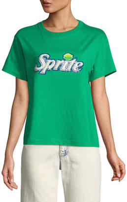 Marc Jacobs Sprite® Sequin Crewneck Short-Sleeve Cotton T-Shirt