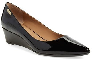 Calvin Klein 'Germina' Pointy Toe Wedge $108.95 thestylecure.com