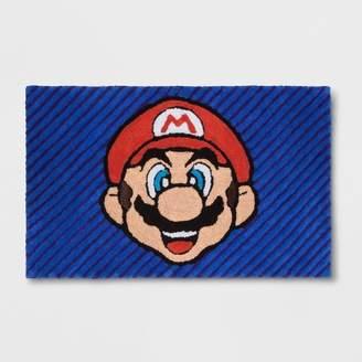 """Nintendo Wordly Mario 2'5""""x4' Elevated Rug"""