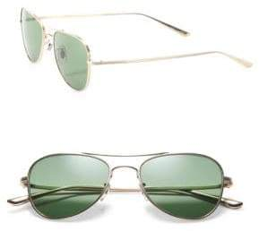 Oliver Peoples The Row The Row For Executive Suite 53MM Titanium Aviator Sunglasses