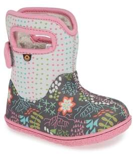 Bogs Baby New Flower Dot Waterproof Boot