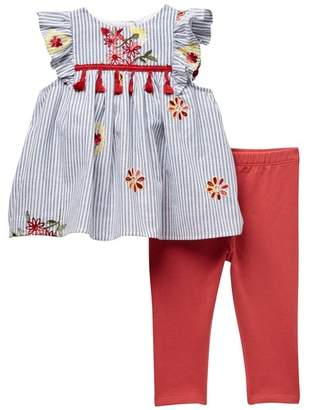 Pippa Pastourelle by and Julie Tassel Tunic with Leggings Set (Baby Girls 12-24M)