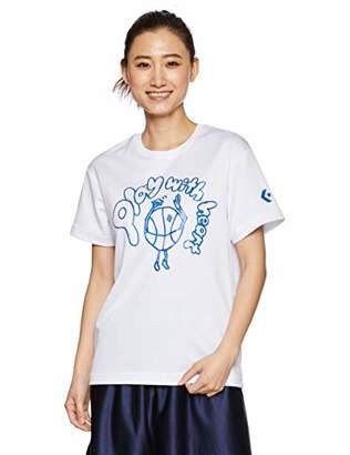 Converse (コンバース) - [コンバース] バスケ 半袖Tシャツ 吸汗・速乾 ラメプリント CB391306 ホワイト 日本 M (日本サイズM相当)