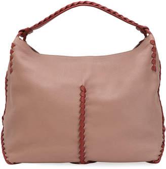 Bottega Veneta Leather Fringed Hobo Bag