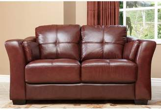 Co Darby Home Franklintown Leather Loveseat