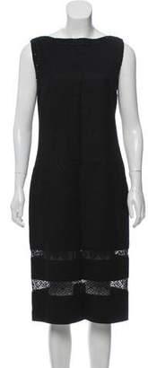 Valentino Sleeveless Wool Midi Dress