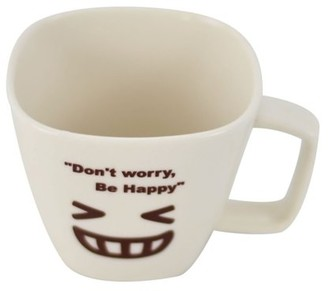 Southern Homewares Don't Worry, Be Happy Ceramic Tea Cup Face 03