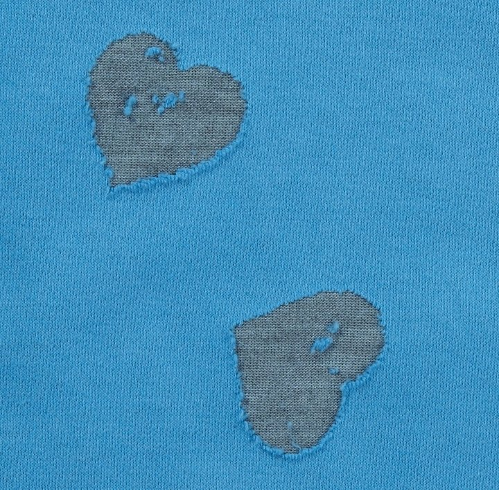 """Erge HighLow Tee """"Double Knit Hearts"""" - Royal Blue-12 Months"""