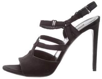 Balenciaga Satin T-Strap Sandals