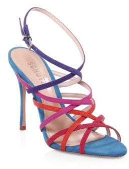 Schutz Lizbeth Suede Ankle-Strap Sandals