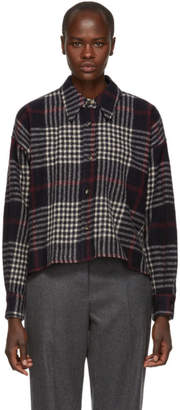 Isabel Marant Navy Hanao Wool Shirt