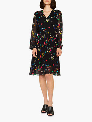 Paul Smith Ring Box Print Dress, Black/Multi