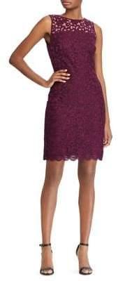 Lauren Ralph Lauren Petite Floral Lace Mini Dress