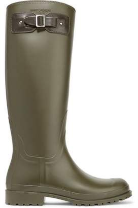 07d81561a635 Jimmy Choo Festival 25 Leather-trimmed Rubber Rain Boots