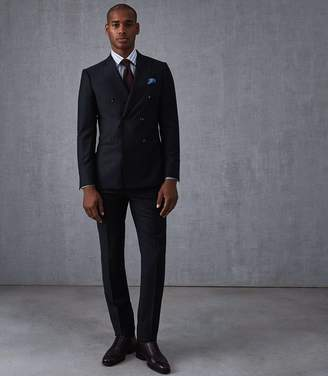 Reiss Our last order date for Christmas has now passed ALNWICK WOOL SLIM FIT PINSTRIPE SUIT Navy