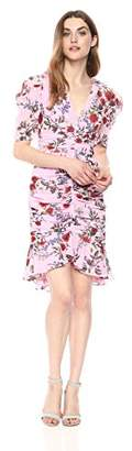 Keepsake The Label Women's Need You Now Floral Print Puff Sleeve Ruched Ruffle Dress