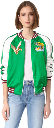 endless rose Patch Detail Reversible Bomber Jacket $168 thestylecure.com