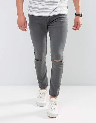 Brave Soul Skinny Jeans with Knee Rips
