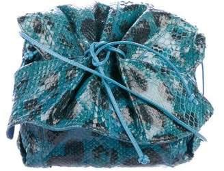 Carlos Falchi Snakeskin Butterfly Bag