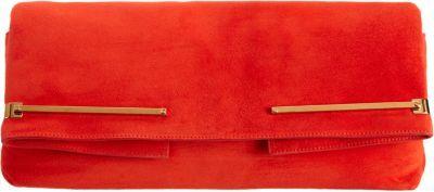 Lanvin Suede Small Folding Clutch