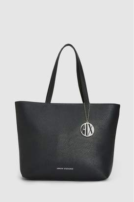 Armani Exchange Womens Black Shopper Bag - Black