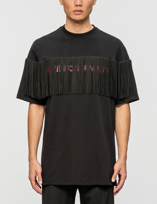 Rocket X Lunch R Fringed T-Shirt $80 thestylecure.com