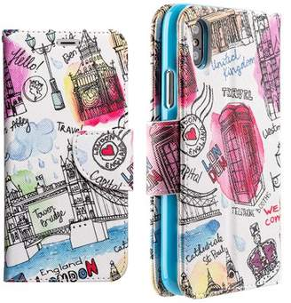 Luxmo Cell Phone Cases Leather Flip Wallet Cases For iPhone X- Escape To London