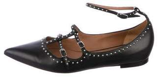 Givenchy Stud-Trimmed Leather Flats