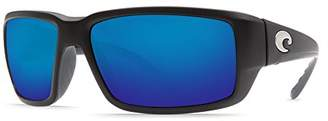 Costa del Mar Unisex-Adult Fantail TF 11 OBMGLP Polarized Iridium Rectangular Sunglasses