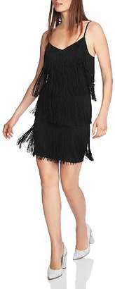 1 STATE 1.STATE Tiered Fringe Slip Dress