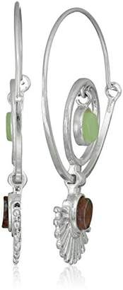 Danielle Nicole Keyon Silver Hoop Earrings