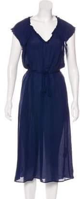 Raquel Allegra Belted Silk Dress w/ Tags