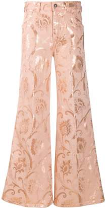 Etro Baroque print flared jeans
