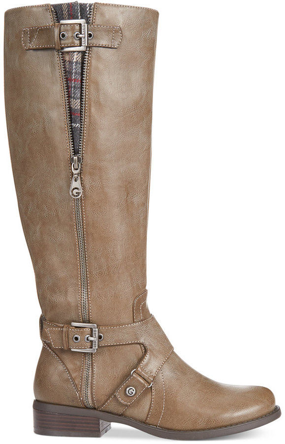 G by GUESS Women's Hertle Tall Shaft Wide Calf Riding Boots 6