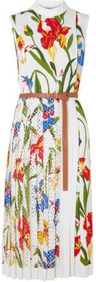 Tory Burch Carine Printed Crepe Midi Dress - Ivory