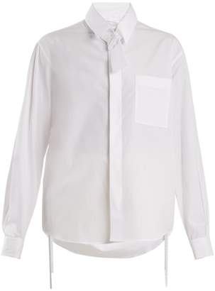 Craig Green Tie Neck Cotton Shirt - Womens - White