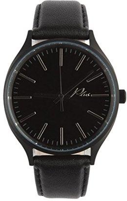 Plus WatchesクラシックレザーWatchのすべてブラックとブラックレザー